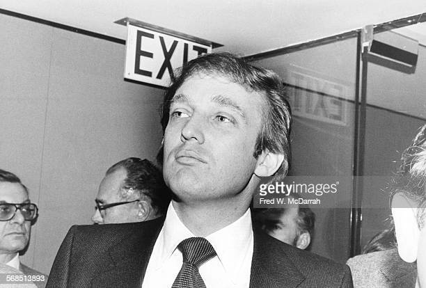 Closeup of American real estate developer Donald Trump as he attends an event at the Jacob K Javits Convention Center New York New York December 11...