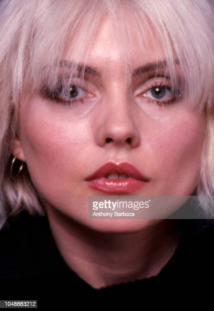 Closeup of American singer Debbie Harry from the band Blondie New York New York 1970s