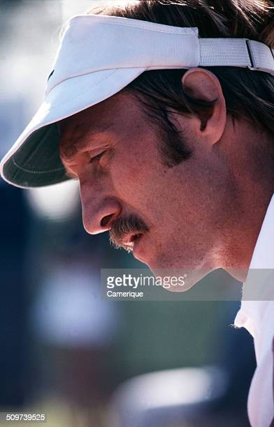 Closeup of American tennis player Stan Smith September 1982