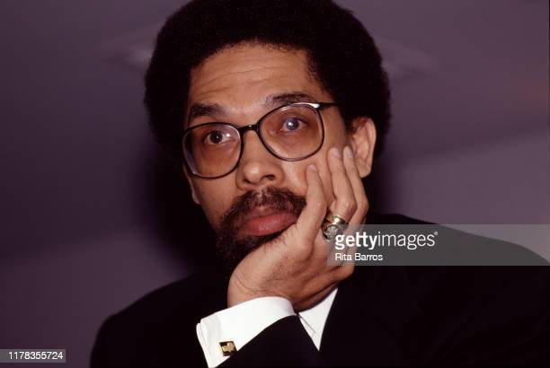 Closeup of American writer and philosopher Dr Cornel West New York 1994