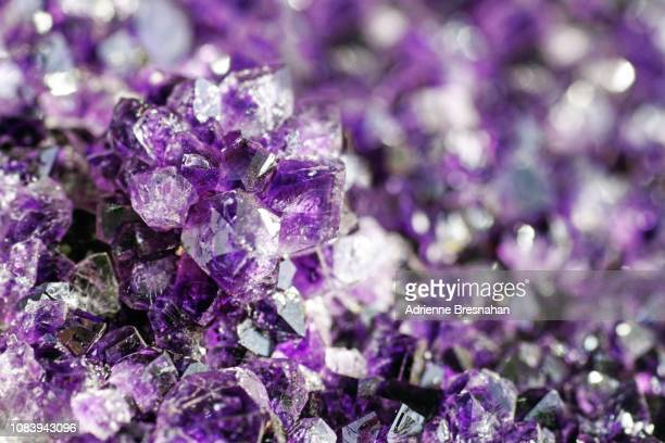 close-up of amethyst geode - geology stock pictures, royalty-free photos & images