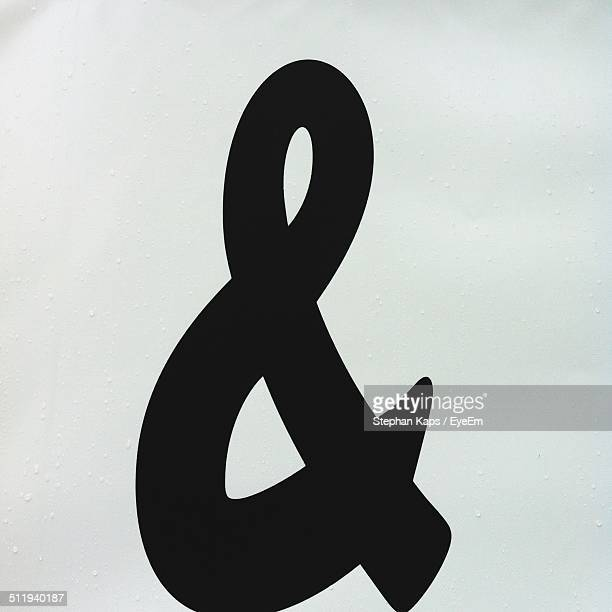 Close-up of ampersand symbol