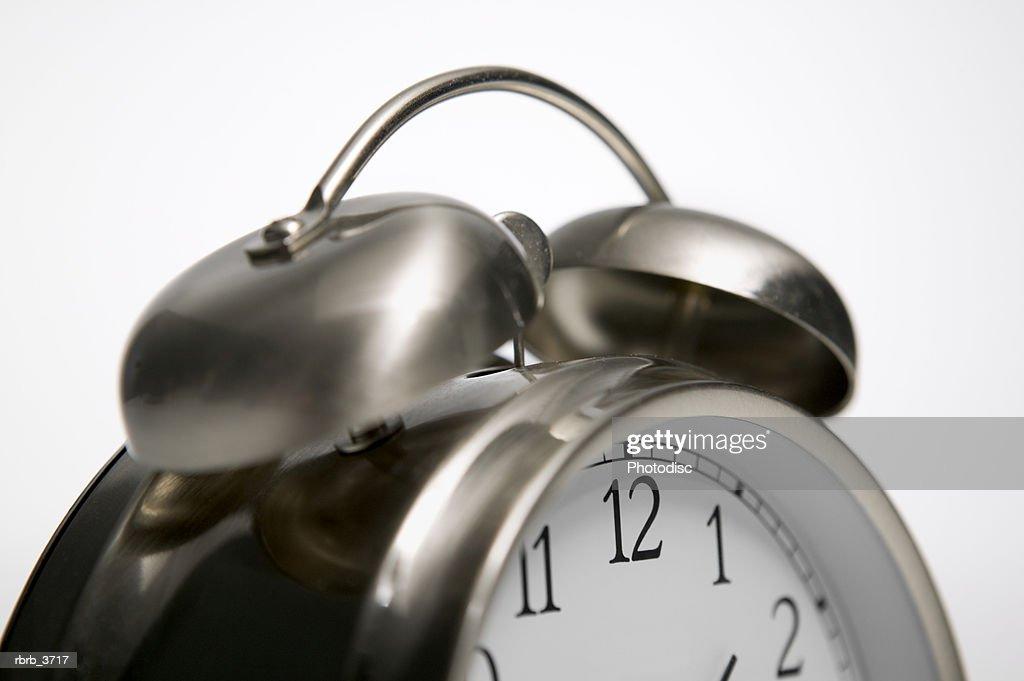 Close-up of an alarm clock : Foto de stock