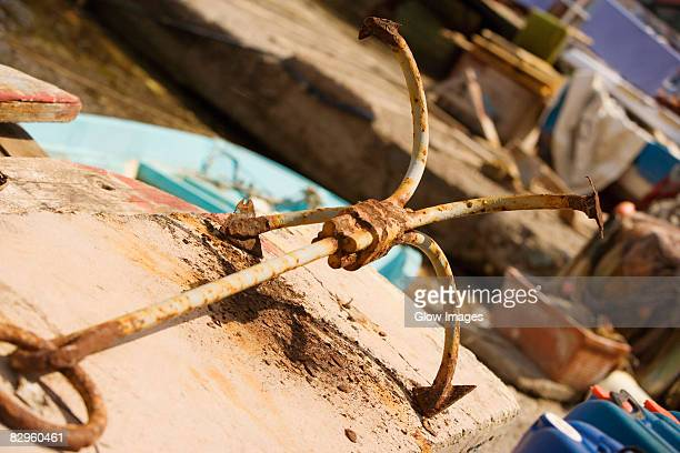 Close-up of an anchor, Sorrento, Sorrentine Peninsula, Naples Province, Campania, Italy
