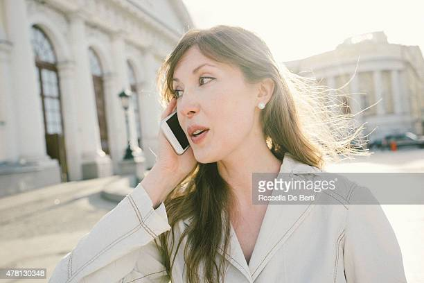 Close-up Of An Attractive Businesswoman On The Phone