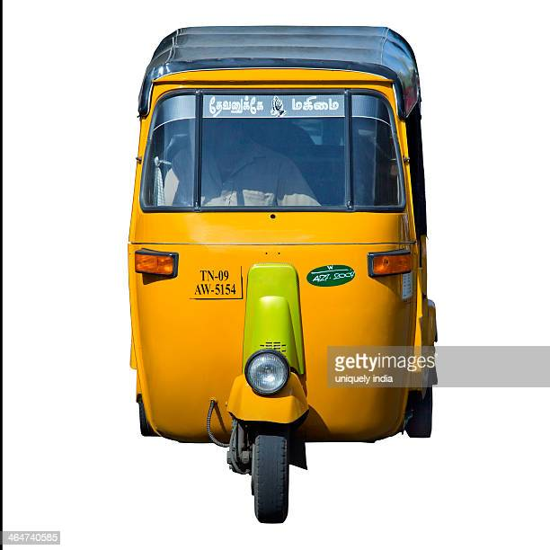 close-up of an auto rickshaw, chennai, tamil nadu, india - auto rickshaw stock pictures, royalty-free photos & images