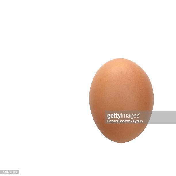 Close-Up Of An Egg Over White Background