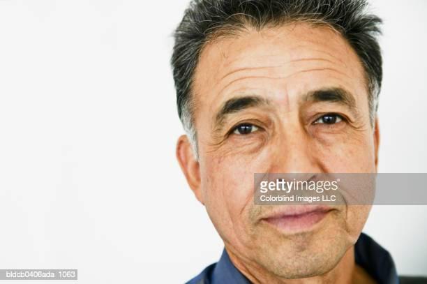 Close-up of an elderly man's face