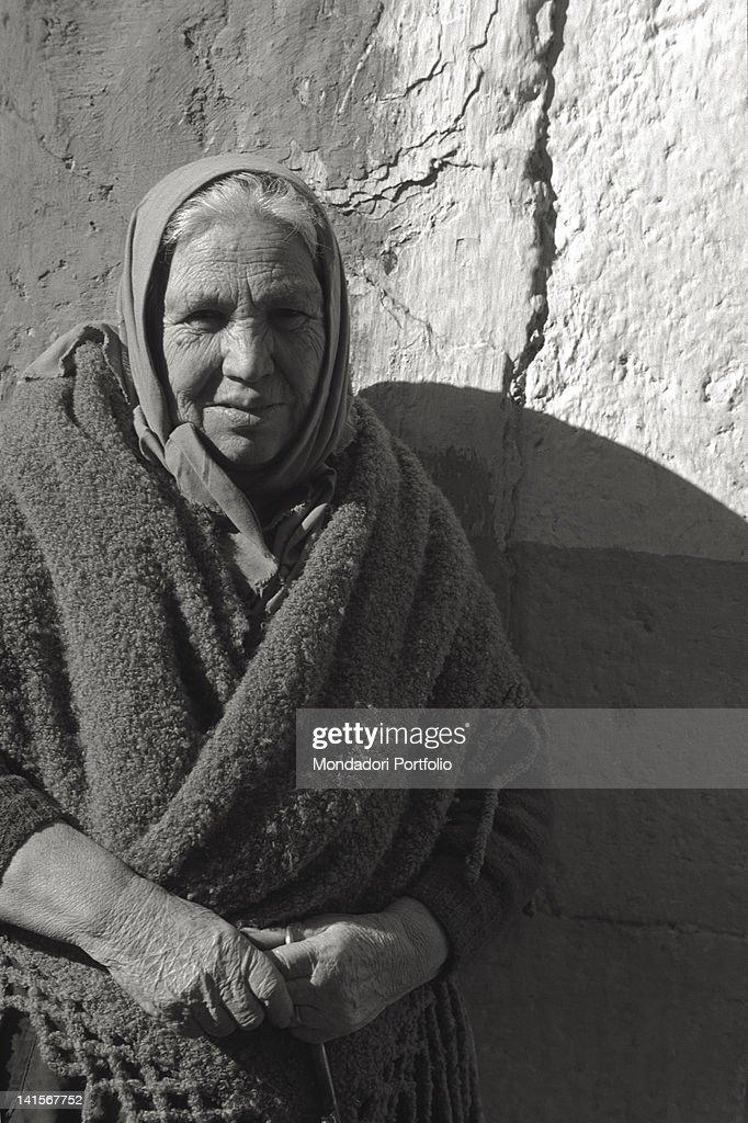 An Elderly Woman From San Giovanni Rotondo : News Photo