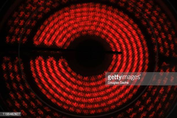 close-up of an electric burner - electric stove burner stock pictures, royalty-free photos & images