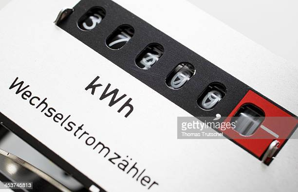 Closeup of an electricity meter also called energy meter on December 03 in Berlin Germany An electricity meter is a device that measures the amount...