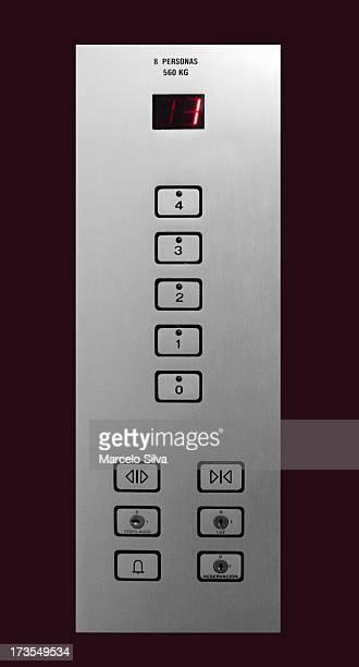 エレベーターのパネル