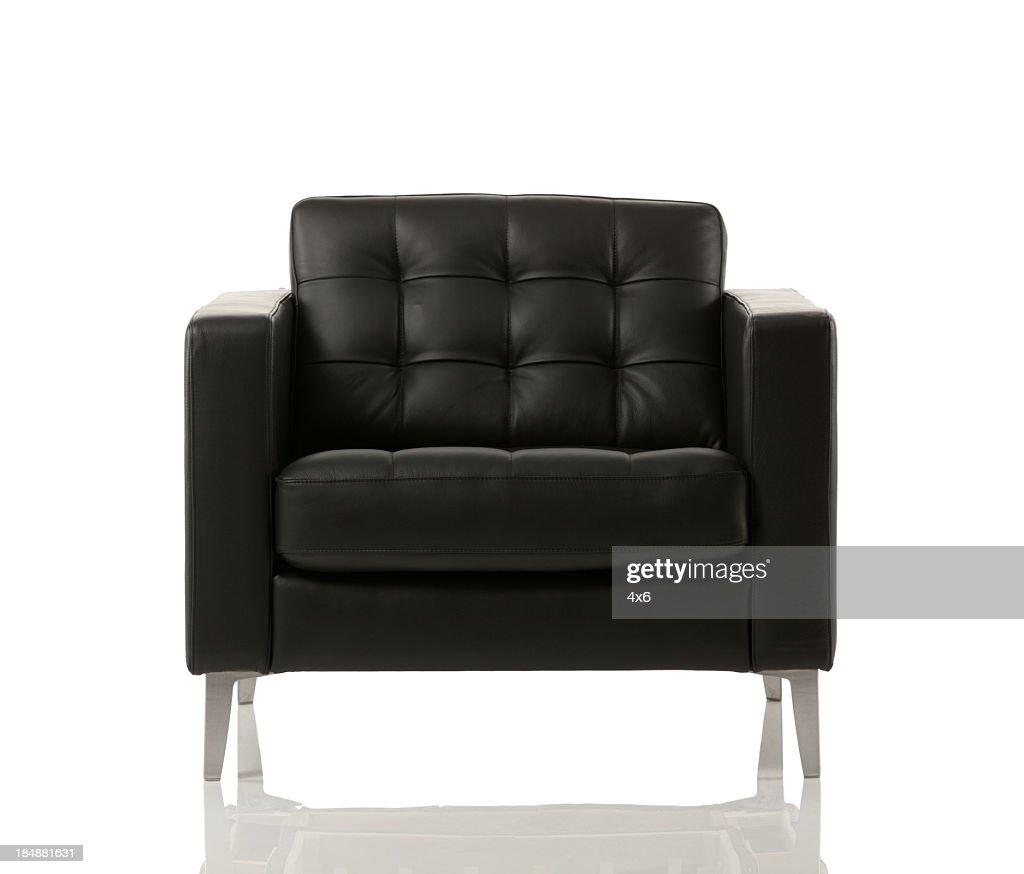 Nahaufnahme von einem leeren Sessel : Stock-Foto