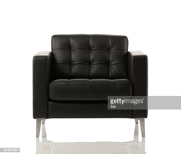 close-up of an empty armchair - chair stock pictures, royalty-free photos & images