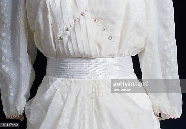 Closeup Of An Evening Dress Worn By Diana Princess Of Wales On Display At Kensington Palace