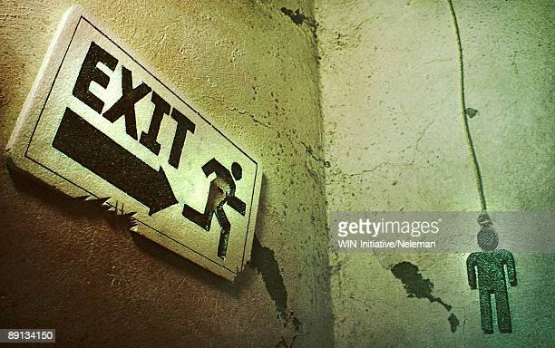 Close-up of an Exit sign