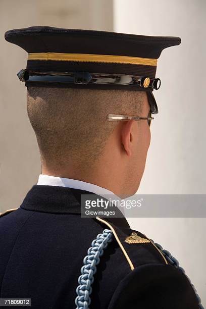 close-up of an honor guard - uniform cap stock photos and pictures