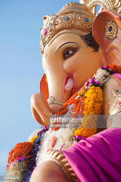 Close-up of an idol of Lord Ganesha, Mumbai, Maharashtra, India