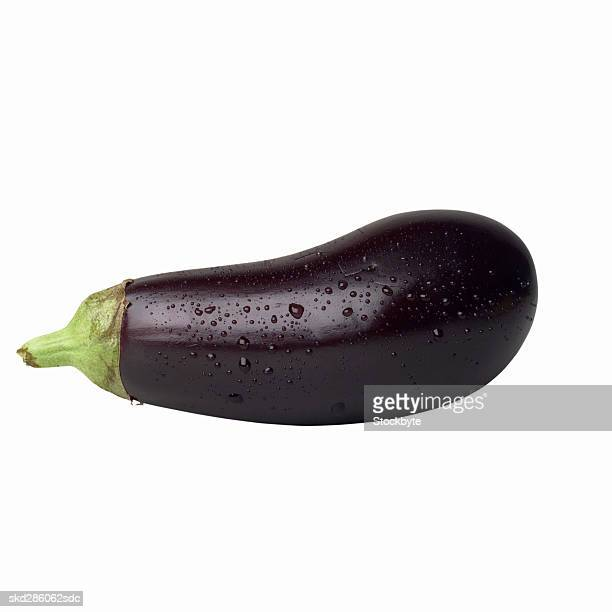 Close-up of an Italian eggplant
