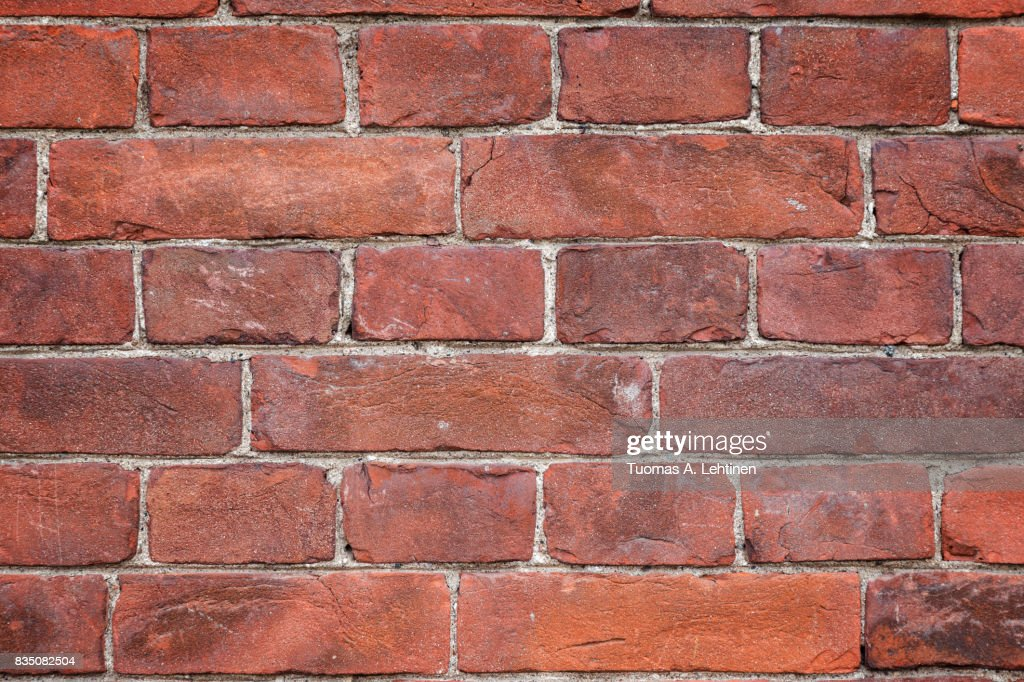 Closeup Of An Old And Aged Red Brick Wall Texture Background