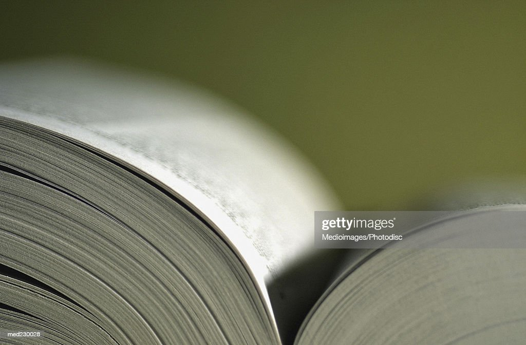 Close-up of an open book : Stock Photo