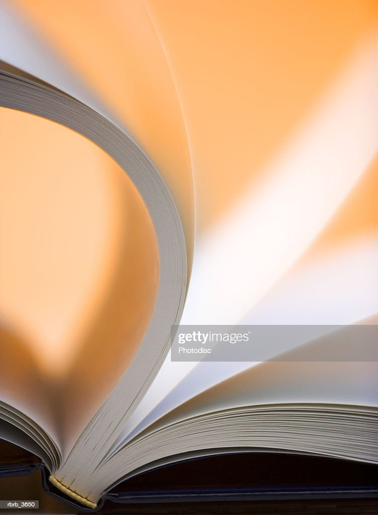 Close-up of an open book : Foto de stock