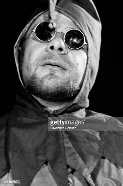 Closeup of an unidentified Merry Pranksters in a costume and sunglasses while on an LSD 'trip' Los Angeles California 1966 The Merry Pranksters...