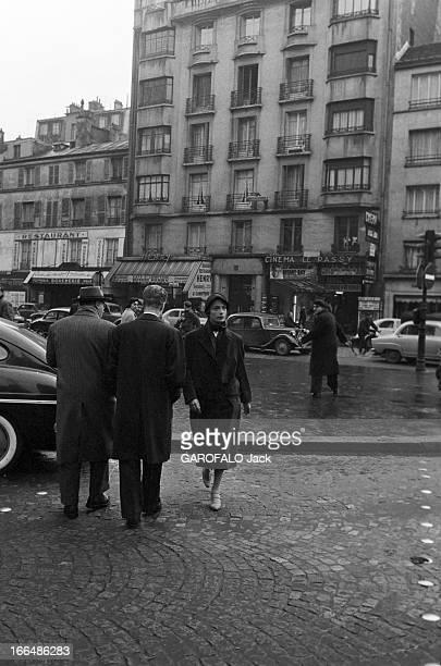 CloseUp Of Andree Debar For The Film 'La Garconne' Le 1er octobre 1957 à Paris l'actrice Andrée DEBAR joue en vedette dans le film de Jacqueline...