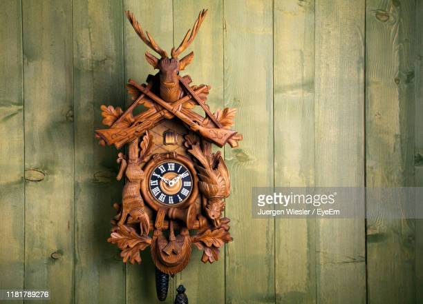 close-up of antique wall clock - wall clock stock pictures, royalty-free photos & images