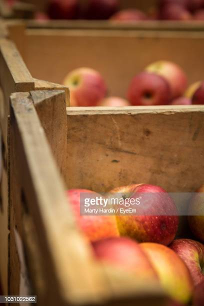 close-up of apples for sale - marty hardin stock photos and pictures
