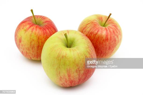 Close-Up Of Apples On White Background