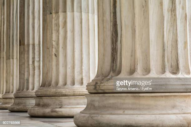 close-up of architectural columns - roman stock pictures, royalty-free photos & images