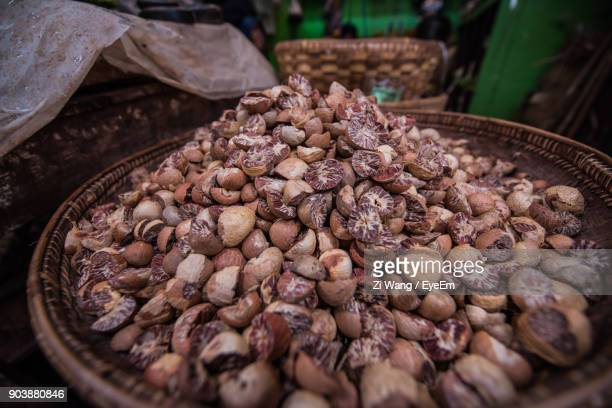 Close-Up Of Areca Nuts For Sale At Market