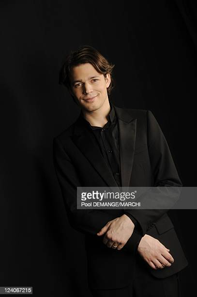 Closeup of Ariane Mathiakh French conductor and David Fray French pianist 16th France's best classical artists of the year in Metz France on February...