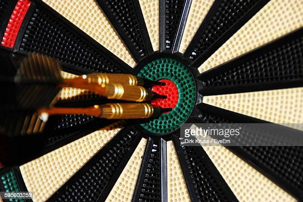Close-Up Of Arrow On Dartboard