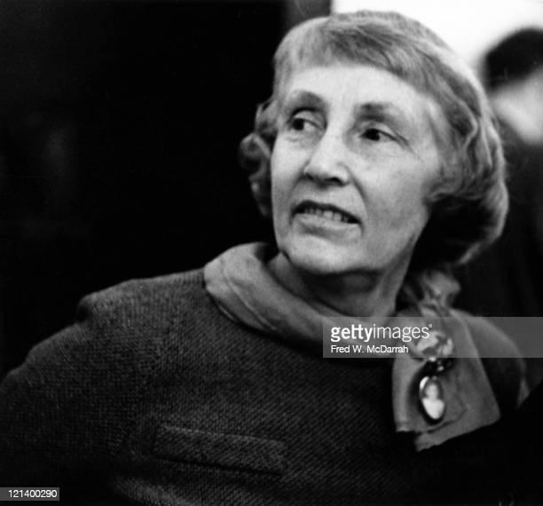 Closeup of art gallery owner Martha Jackson New York New York Mary 10 1960