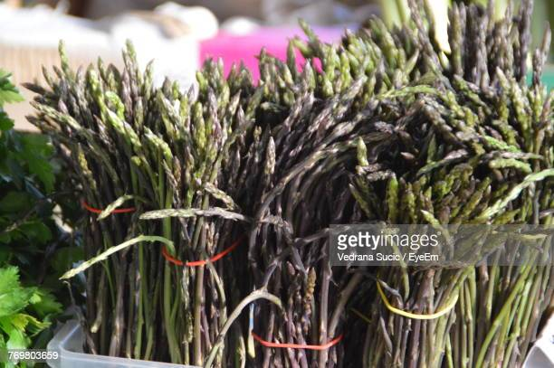 Close-Up Of Asparagus Bunch For Sale