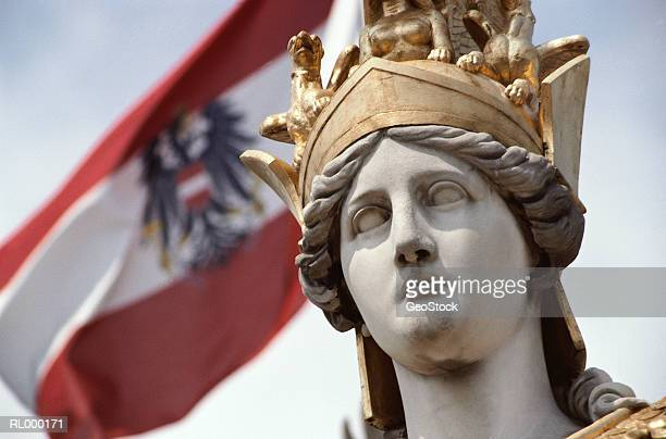 Close-Up of Athena Statue