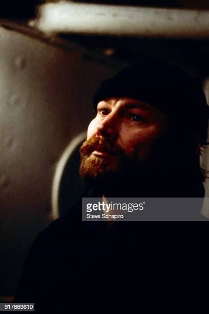Close-up of Austrian actor Klaus Maria Brandauer in a scene from the film 'The Lightship' , Germany, 1984.