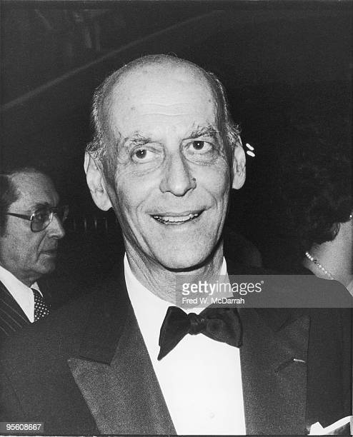 Closeup of Austrianborn British American opera producer Sir Rudolf Bing as he attends an unspecified event September 25 1976 Bing had been General...