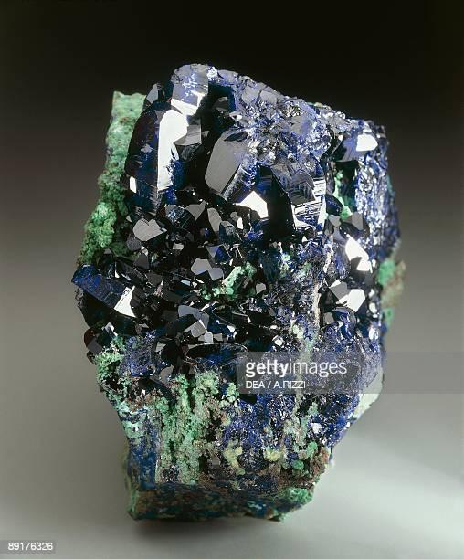 Closeup of azurite