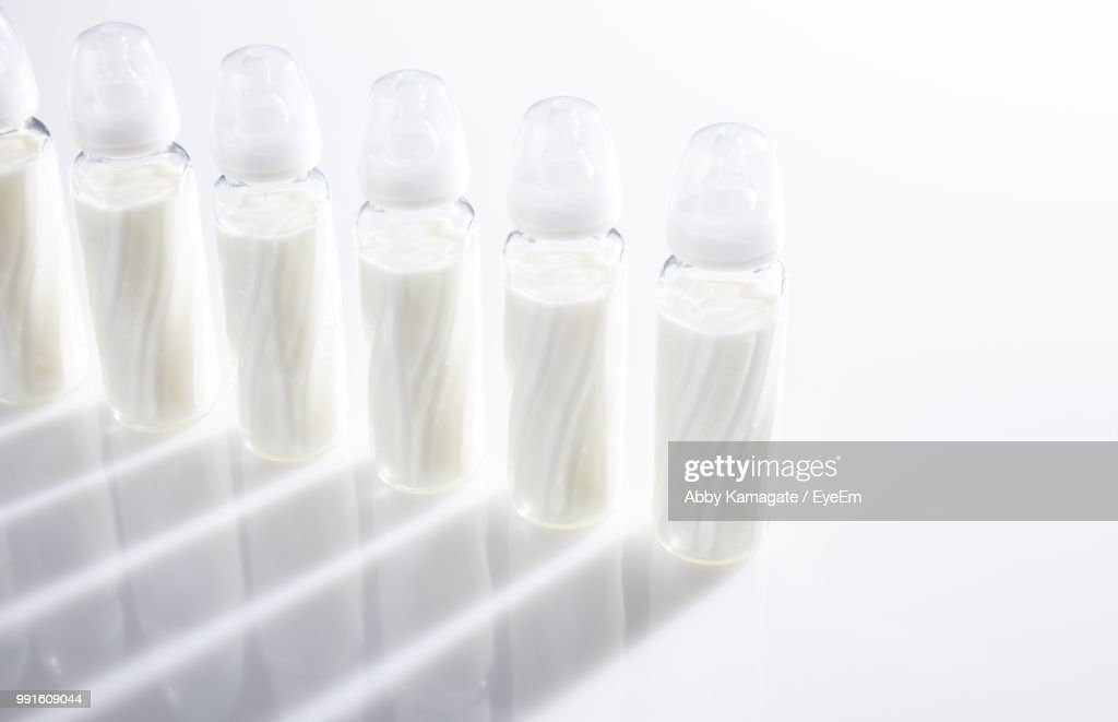 Fantastic Closeup Of Baby Bottles On Table Stock Photo Getty Images Home Interior And Landscaping Spoatsignezvosmurscom