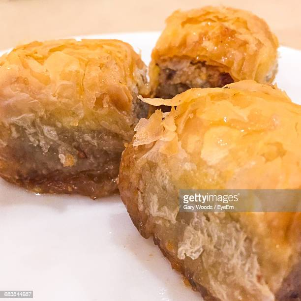 Close-Up Of Baklava In Plate