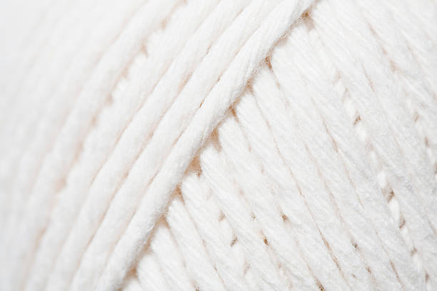 Close-up of ball of white yarn
