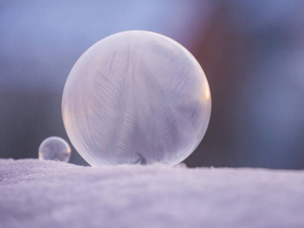 Close-up of ball on snow