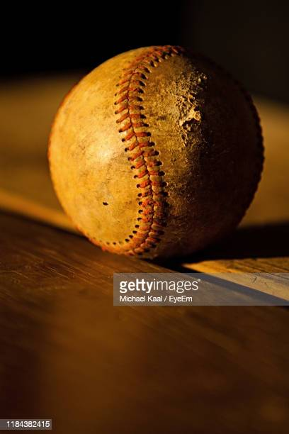 close-up of ball on table - kaal stock pictures, royalty-free photos & images