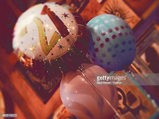 Close-Up Of Balloons For Birthday Decoration