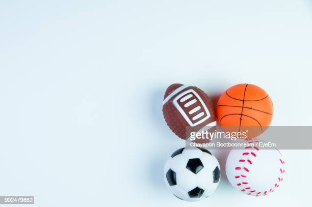 Close-Up Of Balls Against White Background