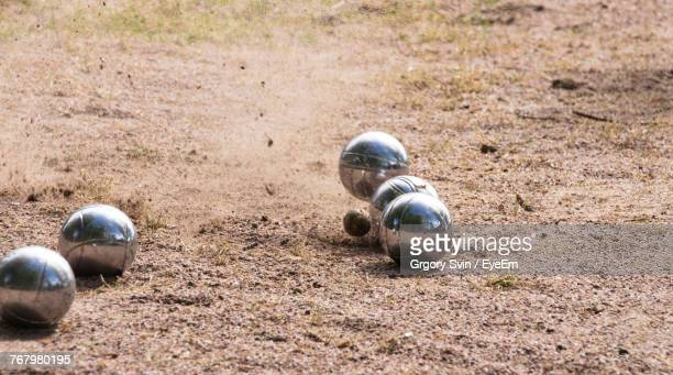 Close-Up Of Balls On Field