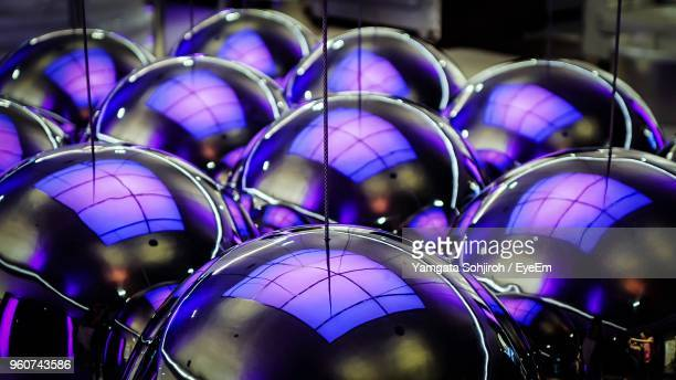 Close-Up Of Balls With Reflections